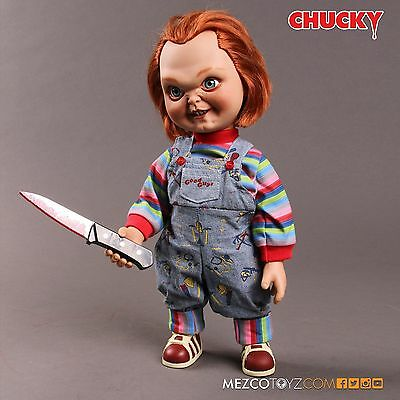 """Child's Play - Chucky 15"""" Talking Sneering Good Guy Action Figure Doll Sound"""