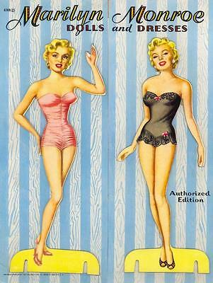 Vintage Uncut 1953 Marilyn Monroe Paper Dolls Hd Laser Reproduction~Lo Pr~Hiq