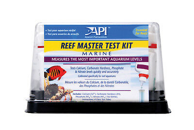 FREE SHIPPING API Genuine Marine REEF MASTER TEST KIT 4 in 1 Saltwater Calcium