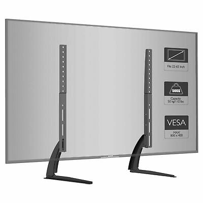 """Universal Table Top Pedestal TV Stand Screen Monitor Riser for 37-65"""" Samsung LG"""