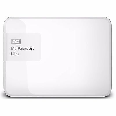 "Western Digital WD My Passport Ultra 4TB 2.5"" Portable External Hard Drive White"