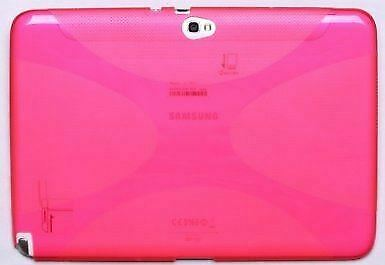 Hybrid Slim Rubber Gel Skin Case Cover for Samsung Galaxy Note 10.1 - Pink