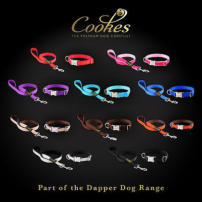Cookes® Strong Nylon Dog Pet Training Collar Lead Set High Quality - All Colours