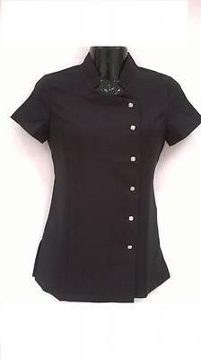 New SPA Beauty Salon Beautician Tunic  Therapist Uniform with Metal Buttons