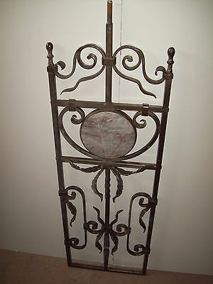 WROUGHT IRON STAIRS SPINDLES FOR RAILING ART WORK HANDCRAFTED 10 37''x 12''