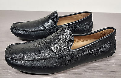 5459d486779 1901  BERMUDA  PENNY Loafer Black Pebbled Leather Mens Size 11 M ...