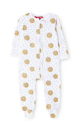 NEW Sprout Zip Sleepsuit With Mittens & Feet White