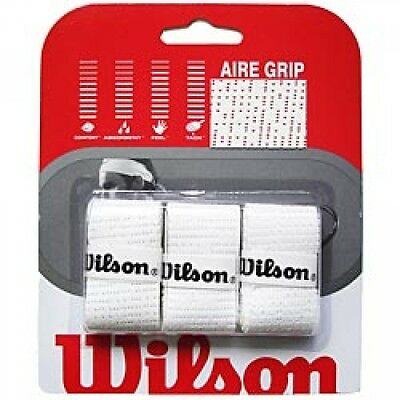 Wilson Aire Grip 3 Pack White NEW FREE USA SHIP