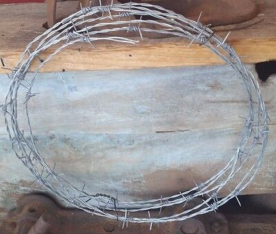 25 Feet New Barb Wire Roll Made In The Usa 18 Gauge 4 Pt Arts-Crafts-Pinterest