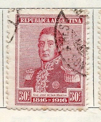 Argentine Republic 1916 Early Issue Fine Used 30c Stamps Latin America 106816