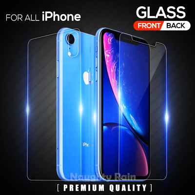 Tempered Glass Screen Protector For Apple iPhone 11 Pro Max X XS Max XR 8 7 Plus