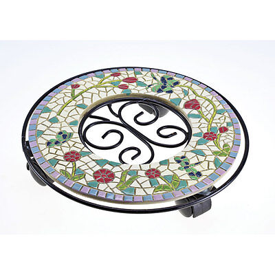 Mosaic Rolling Plant Stand