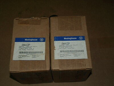 (Lot of 2) WESTINGHOUSE AN43P Thermal Overload Relay 3 Pole NEMA Size 4