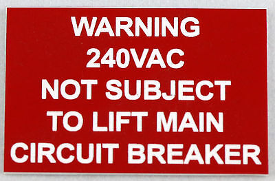 Personalised Laser Engraved Safety Sign Tag Plaque Plate 65Mm X 45Mm
