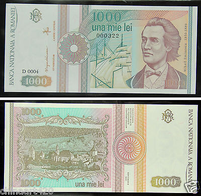 Romania Paper Money 1000 Lei 1989 UNC