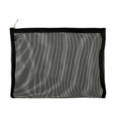 X Mesh Oversized Pencil Case Black