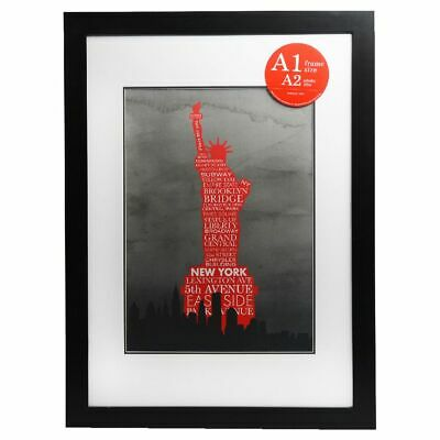 Lifestyle Poster Frame A1 with A2 Opening Black