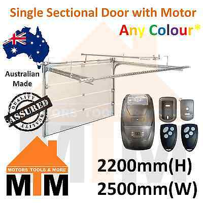 """Brand New"" Single Sectional Panel Lift Garage Door 2200(H) 2500(W) with Motor"