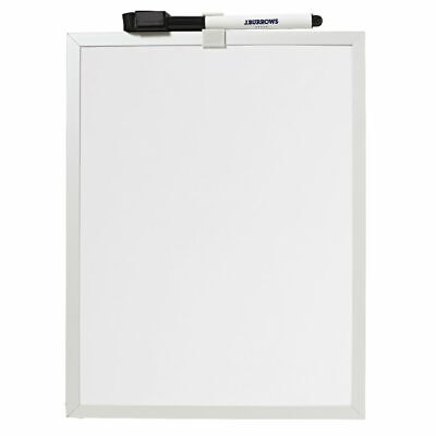 J.Burrows Aluminium Frame Magnetic Whiteboard White