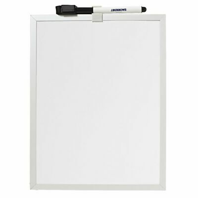 J.Burrows  Aluminium Magnetic Whiteboard 215 x 279mm White