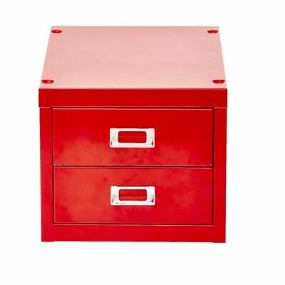 NEW Spencer 2 Drawer Office Filing Storage Cabinet A4 Red