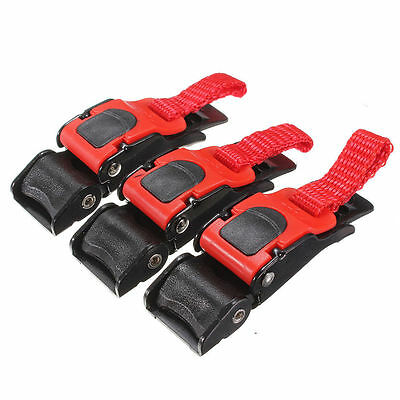 3Pc Motorcycle Bike ATV Helmet Chin Strap Speed Sewing Clip Quick Release Buckle