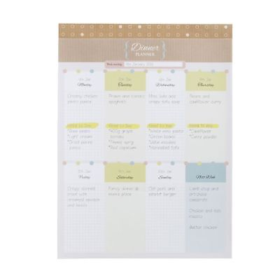 B5 Dinner Planner 52 Sheets Natural