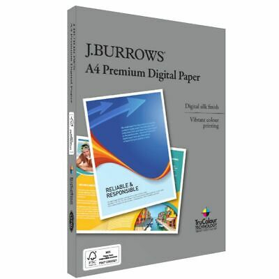 J.Burrows Premium 250gsm A4 Digital Copy Paper 125 Sheets