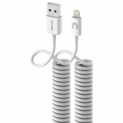 Comsol Lightning to USB Cable Coiled 1.2m White