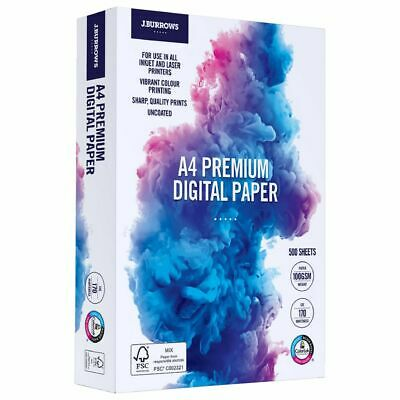 J.Burrows Premium 100gsm A4 Digital Copy Paper 500 Sheets