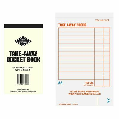 Zions Take Away Docket Book