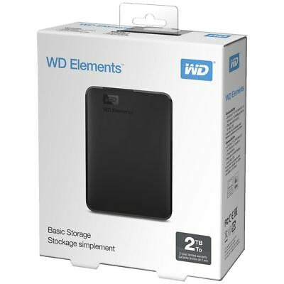 NEW Western Digital Hard Disk Drive Portable Hard Drives 2TB Elements HDD