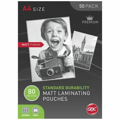 GBC Laminating Pouch A4 80 Micron Matte 50 Pack