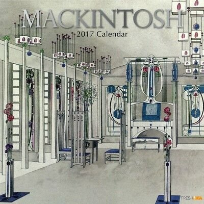 Mackintosh - 2017 Wall Calendar 16 Months by The Gifted Stationery (C)