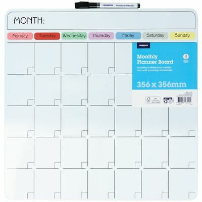 J.Burrows Magnetic Monthly Calendar Board 36 x 36 cm