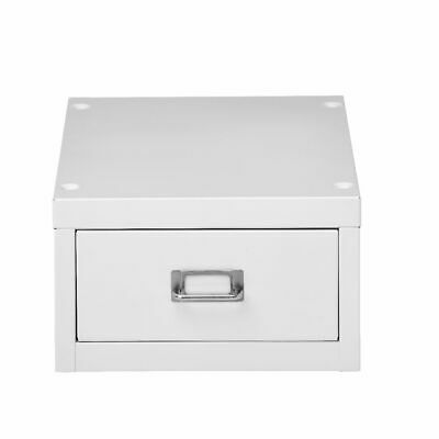 NEW Spencer 1 Drawer Office Filing Storage Cabinet A4 White