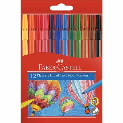 Faber-Castell Playsafe Coloured Markers 12 Pack