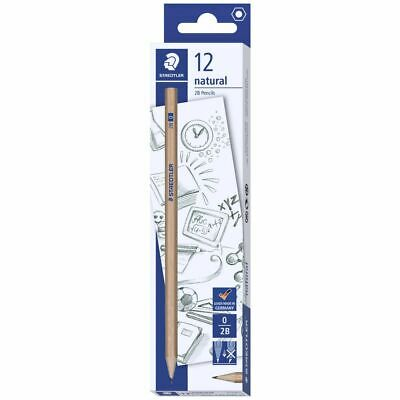 Staedtler Natural Graphite Pencils 2B 12 Pack