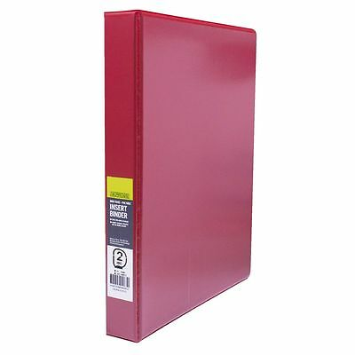 J.Burrows Insert Binder A4 2 D-Ring 25mm Red