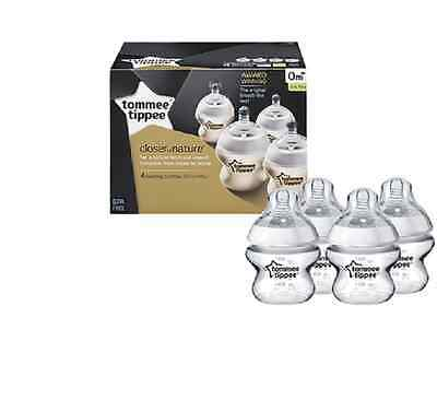 Tommee Tippee 422440 Closer to Nature 150 ml oz Feeding Bottles (4-pack)