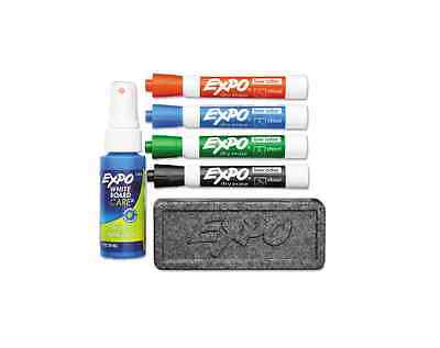 Expo Low-Odor Dry Erase Set, Chisel Tip, Assorted Colors 6 ea