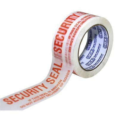 Stylus 48mm x 66m Packaging Tape Security Seal Red on White
