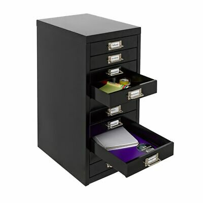 NEW 10 Drawer Mini Filing Unit Black Storage Cabinet Office Furniture