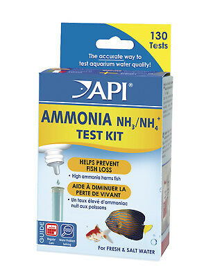 FREE SHIPPING API AMMONIA TEST KIT for Freshwater Saltwater Aquarium Fish Tank