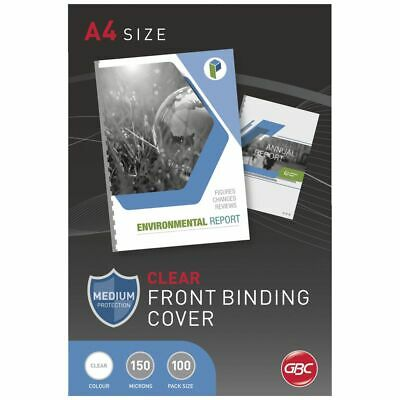 GBC A4 Binding Cover 150 Micron Clear 100 Pack