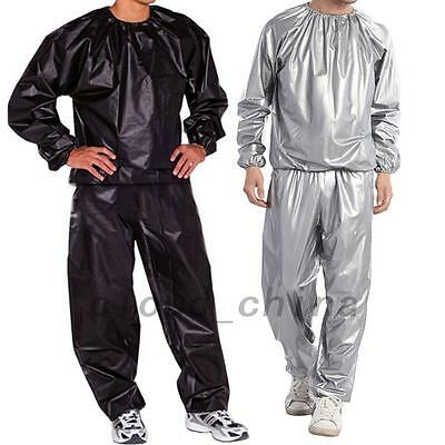 Heavy Duty Sweat Track Sauna Suit Fitness Weight Loss Exercise Training L-5XL