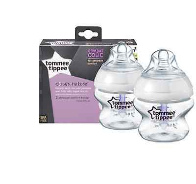 Tommee Tippee Closer to Nature Advanced Comfort 150 ml Feeding Bottles pack of 2