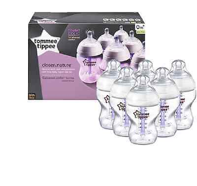 Tommee Tippee Closer to Nature Advanced Comfort 260 ml feeding bottles Pack of 6