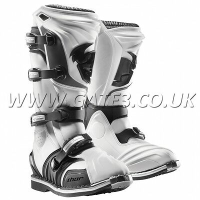 New Thor Quadrant 2 White Motocross Boots Size UK 5 MX Enduro