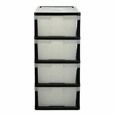 J.Burrows 4 Drawer Storage Cabinet Clear